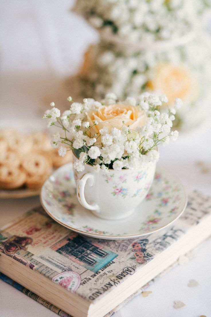 Whimsical Peach Afternoon Tea Party Wedding