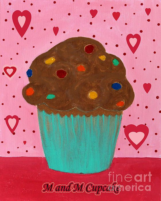 M and M cupcake by Barbara Griffin.
