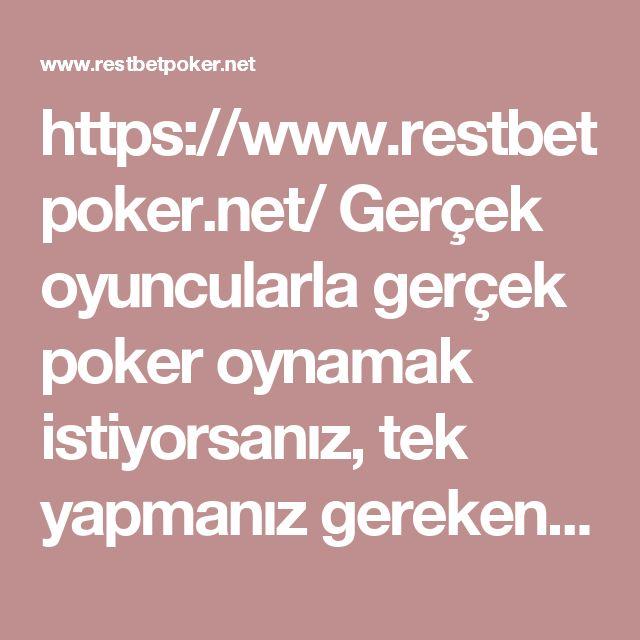 https://www.restbetpoker.net/ Gerçek oyuncularla gerçek poker oynamak istiyorsanız, tek yapmanız gereken RestBet Poker adresine gitmek. #restbet