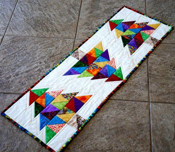 Christmas Tree Table Runner Quilt Pattern: Christmas Quilt Table Runner Table Topper Christmas By