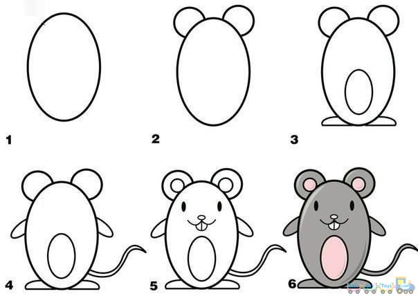 drawing simple animal mouse pics