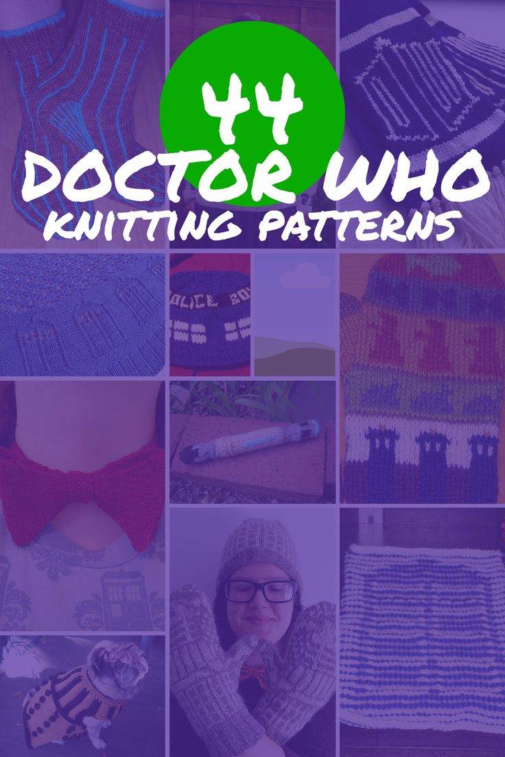 44 Free Doctor Who Knitting Patterns | see all at knittingfornerds.com