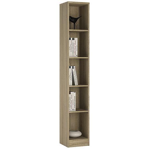 Kensington Tall Narrow Bookcase Sonama Oak