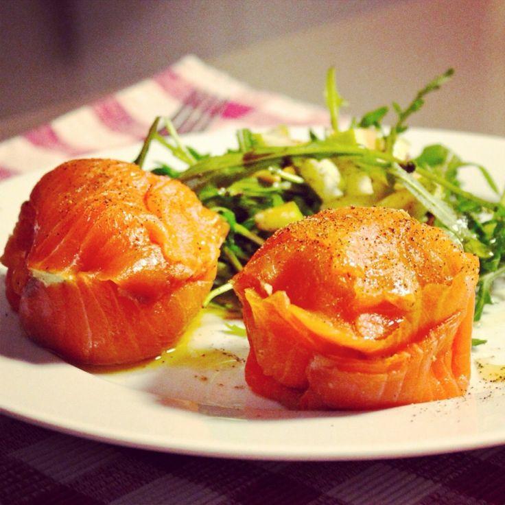 Zalmpralines met geitenkaas, avocado en granny smith - De Loopgekke Keukenprinses