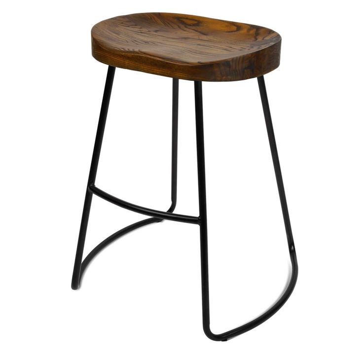 4x Vintage Tractor Bar Stool Retro Barstool Industrial Dining Chair 65cm Wood  | eBay