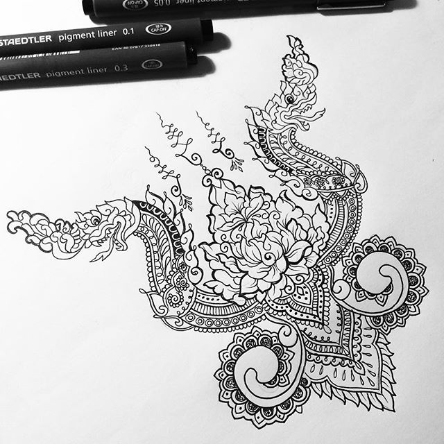 'Khmer' themed back design for Deborah #khmer #khmerart #unilome #mandala #tattoodesign | Use Instagram online! Websta is the Best Instagram Web Viewer!