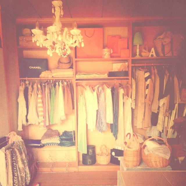 moriさんの、照明,シャンデリア,洋服棚,クローゼット収納,Overview,のお部屋写真