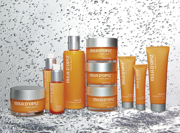 Mila d'Opiz Australia - Skin Vital. Swiss Vitamin Care. Refreshes skin with the energy & vitamins it has lost throught damaging environmental impacts.
