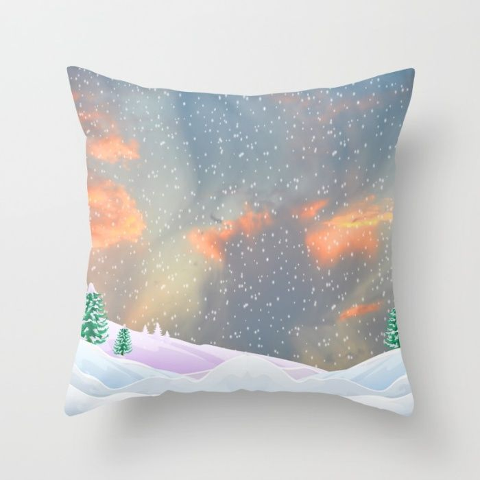 My Snowland | Christmas Spirit Throw Pillow by Azima | Society6