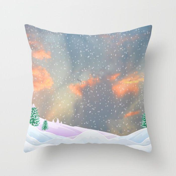 My Snowland | Christmas Spirit Throw Pillow by Azima | Society6