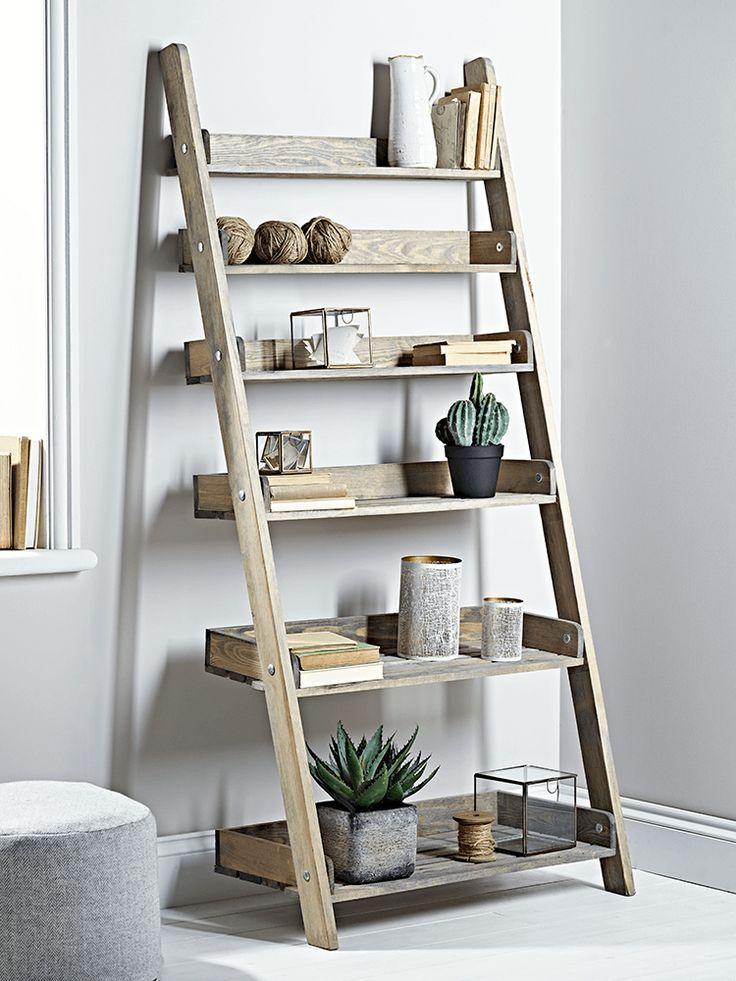 the 25 best wooden ladder shelf ideas on pinterest old ladder shelf ladder shelves and old. Black Bedroom Furniture Sets. Home Design Ideas