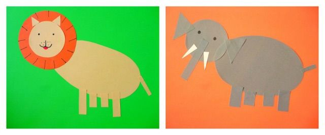 Cute Paper Shape Animals