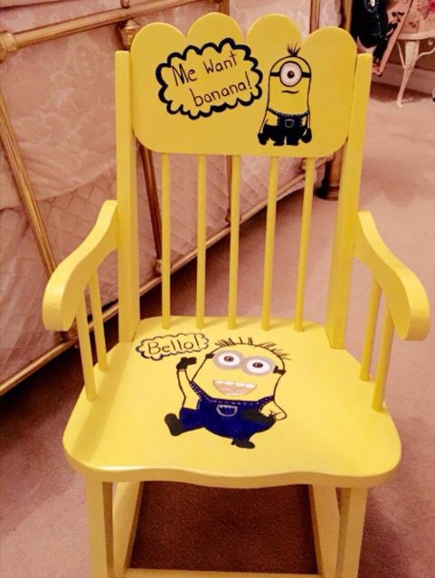 Minions Chair Hand Painted My Funky Chairs Funky