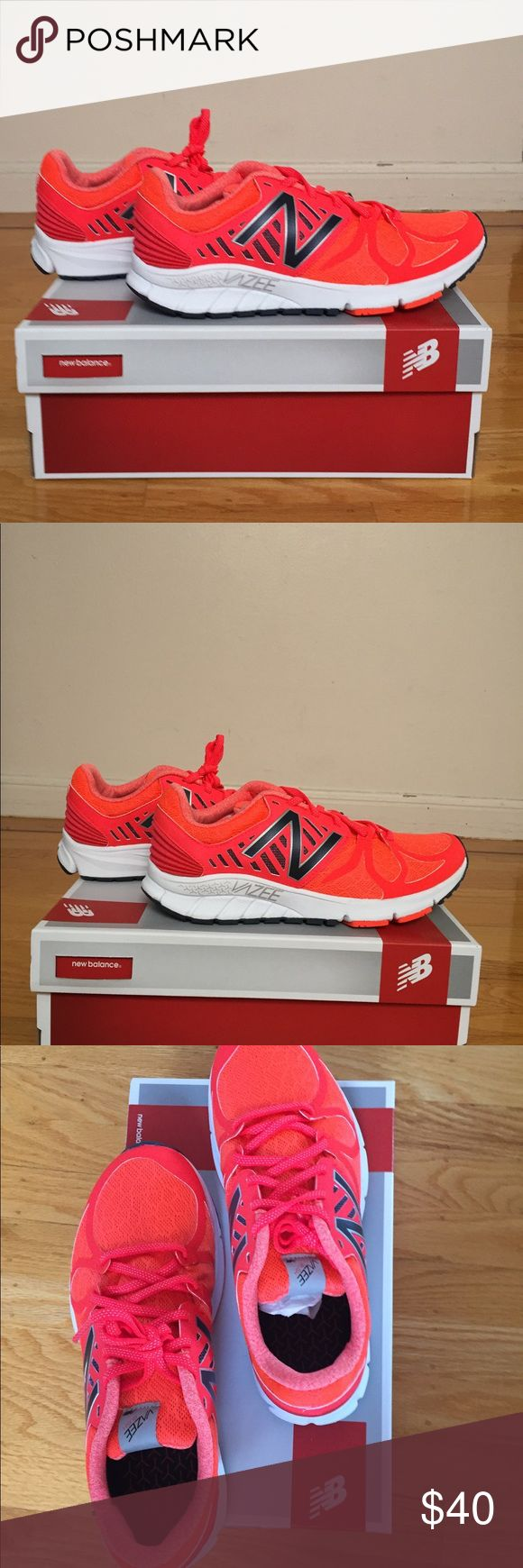NEW! NEW BALANCE RUNNING SHOE MENS MRUSHOR NEW BALANCE RUNNING SHOES MENS. Light, comfortable, good running or walking shoes. They are an orange/red color. NEW WITH BOX, TAGS, PACKAGING! New Balance Shoes Sneakers