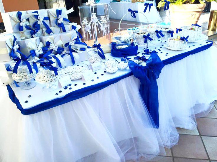confettata bianco blu