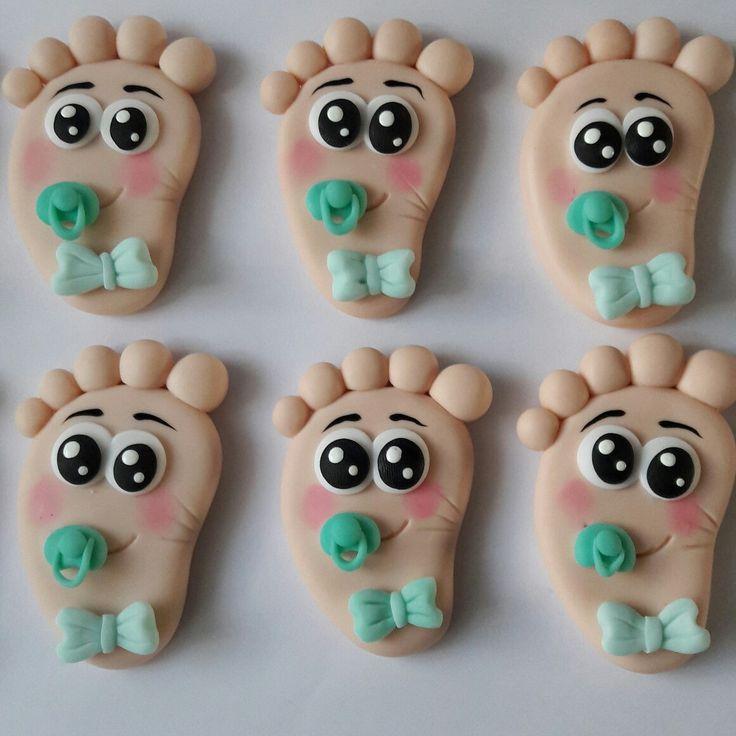 Recuerditos para babyshower modelados 100% a mano en porcelana fria  Mas en mi pagina de face Decoraciones y Accesorios LAURA