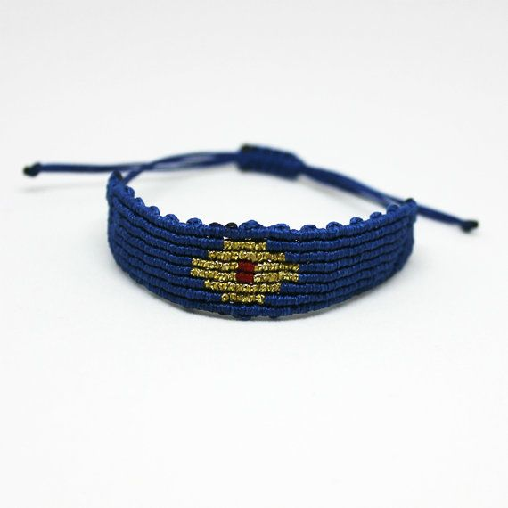 Knotted Evil eye  braceletMicro macrame by MyCraftYourArt on Etsy