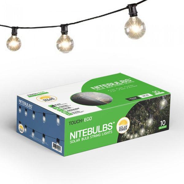 NITEBULBS Solar Patio String Lights
