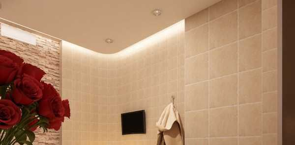 30 glowing ceiling designs with hidden led lighting for Bathroom ceiling design