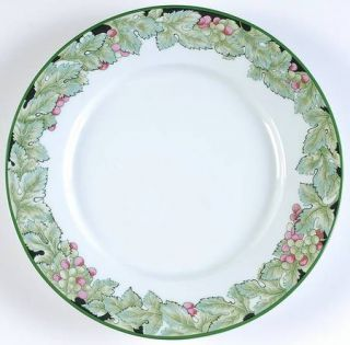 Philippe Deshoulieres Vendanges Dinner Plate, Fine China Dinnerware   Green
