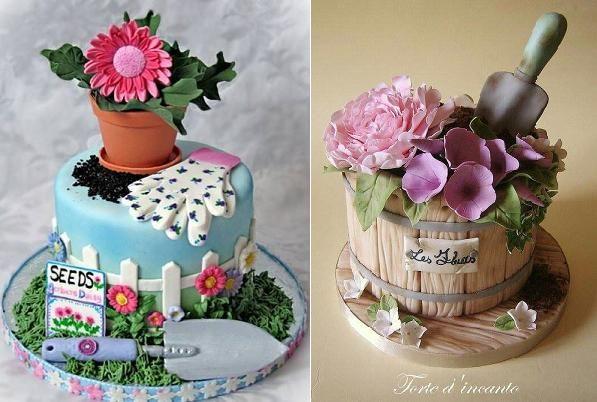 un pastel para un jardinero Maceta tortas a través de Pinterest