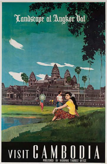 Vintage Travel Poster Angkor Wat Cambodia 169 Unknown