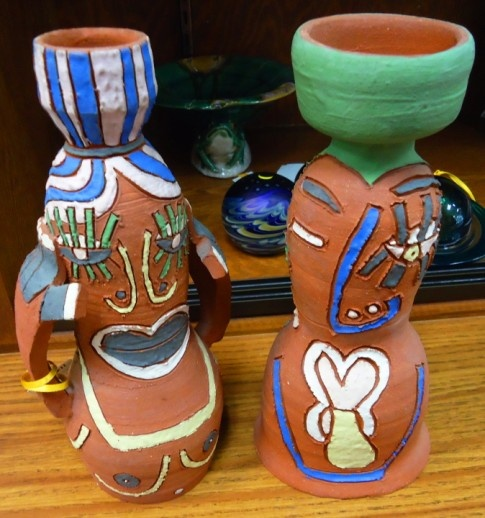 Very cool Wisconsin potter candleholders.  Check them out at The Corner Shoppe, 27 Calendar Ave, LaGrange, IL 708-579-2425
