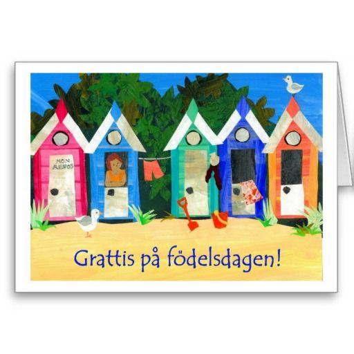 58 best non english birthday cards images on pinterest birthday beach huts card swedish greeting bookmarktalkfo Choice Image