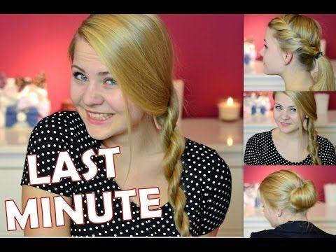 4 Last Minute hair dos video tutorial (german)