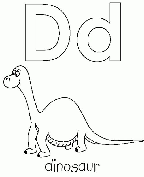letter d is for dinosaur coloring page daycare crafts dinosaur coloring pages dinosaurs. Black Bedroom Furniture Sets. Home Design Ideas
