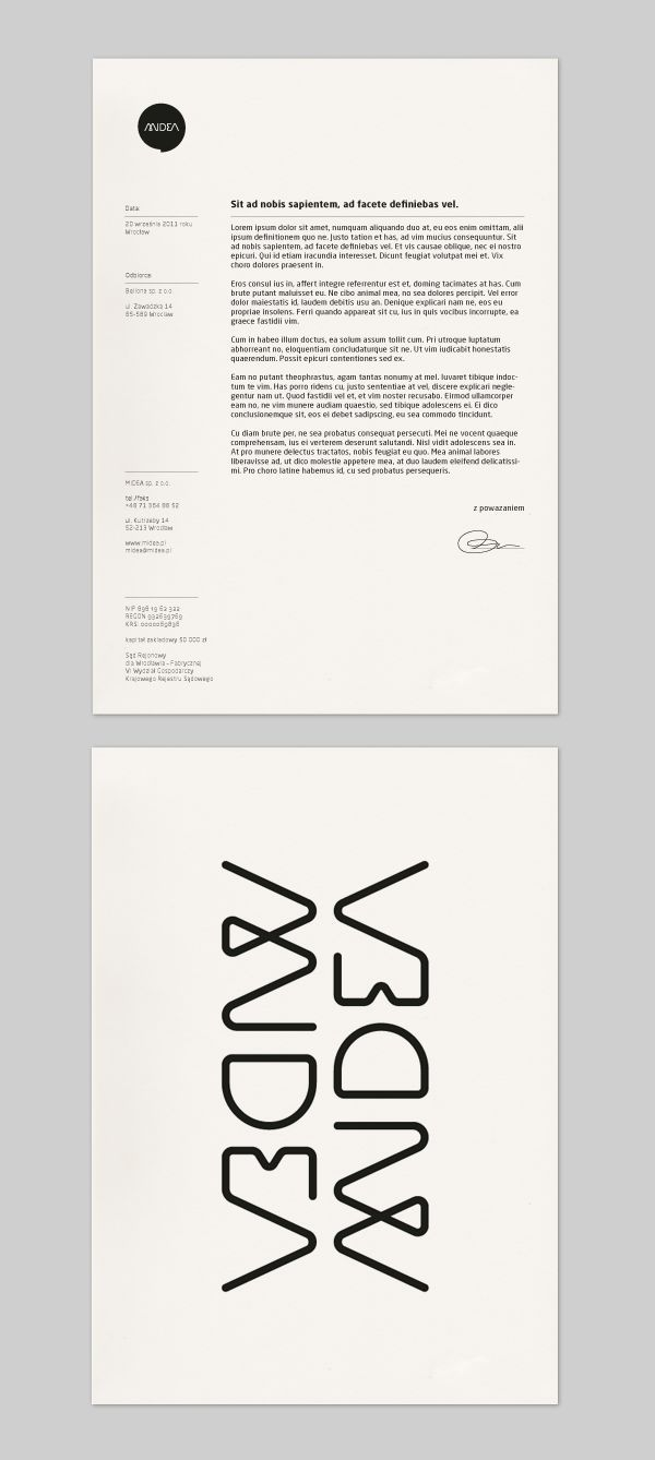 Letterhead — like how they handled all the contact info in the sidebar.