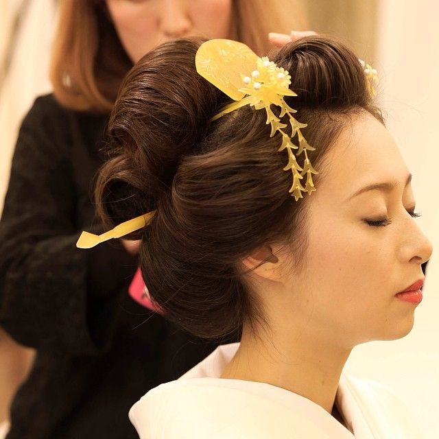 ドレス屋さんの写真館 #新日本髪#フォトスタジオ#和装