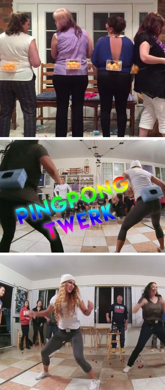 Ping Pong Twerk Game  Christmas Party Ideas For Adults -7044
