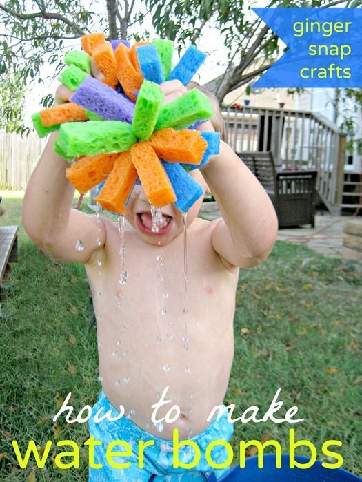 How to make water bombs - a tutorial from Ginger Snap Crafts. So easy and hours of fun.
