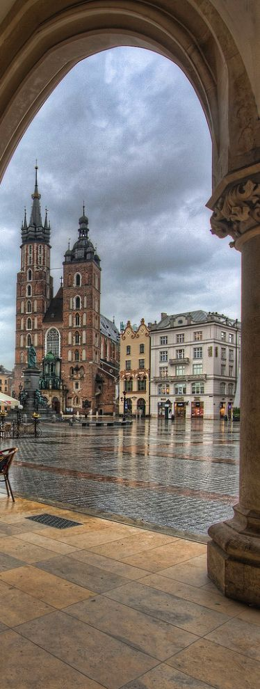 Main Square, Cracow, Poland - Explore the World with Travel Nerd Nici, one Country at a Time. http://travelnerdnici.com