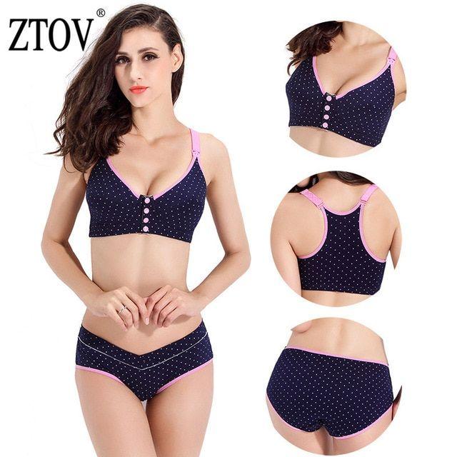 2ad18dc96 ZTOV BreastFeeding cotton Maternity bras for Feeding Pregnant women soutien  gorge allaitement Nursing Bras pregnant underwear