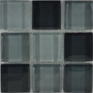 Product ID:OPUS5 Miki 1X1 Glass Blend Serenity Mosaic #Profiletile