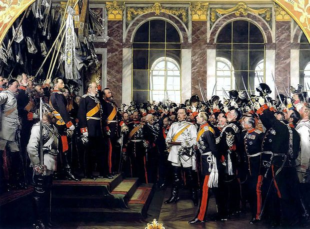 Proclamation of the German Empire, 18 January 1871, 1877 by Anton von Werner