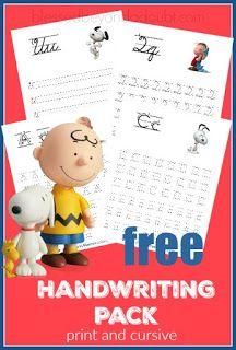 Free minions handwriting printable set print and