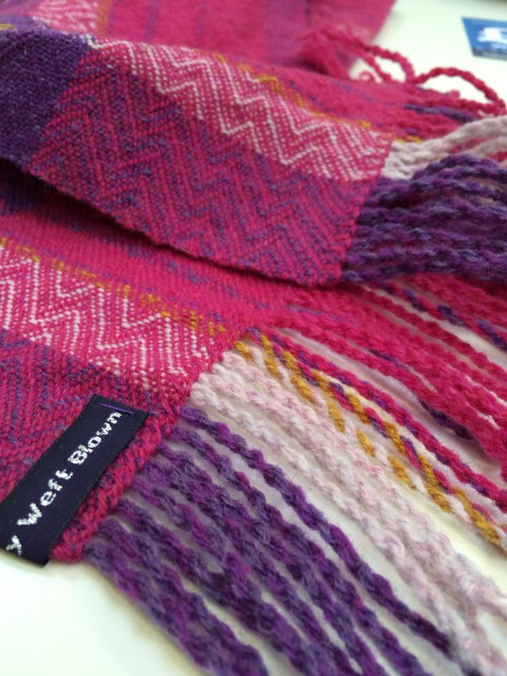 Handwoven 100% wool twill scarf by Weft Blown