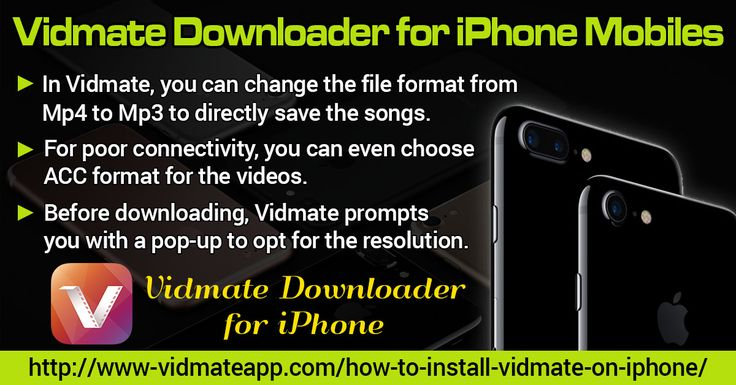 Vidmate is among the best applications to download videos from several websites including Vuclip, DailyMotion, LiveLeak, Vimeo, YouTube etc. Apart from this you can also download videos from social media sites such as Facebook, Instagram and so on.   Website: http://www-vidmateapp.com/how-to-install-vidmate-on-iphone/