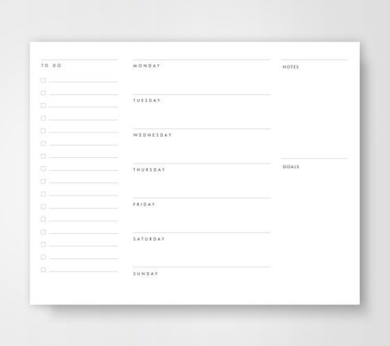 25 best ideas about Weekly Calendar Template – Template Weekly Calendar