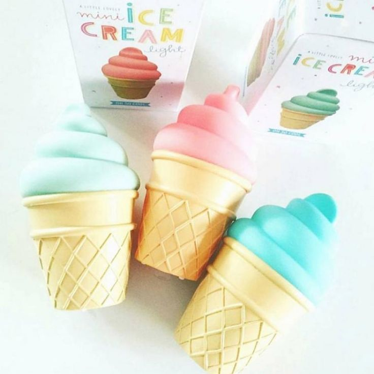 Craquez pour les minis veilleuses en forme de glaces pour un été rafraîchissant !
