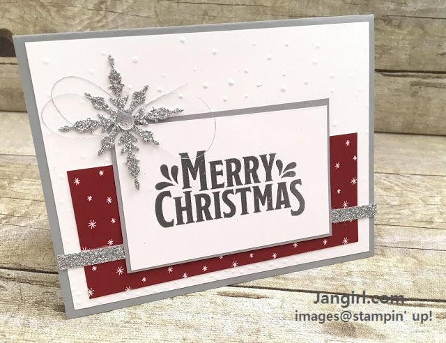 1000 best stampin up images by barbie m on pinterest cards jan girl stampin up merry mistletoe and be merry designer series christmas card m4hsunfo