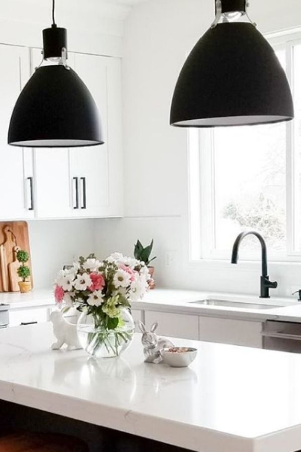 The Matte Black Pendant Lights Make A Bold Statement In Clean