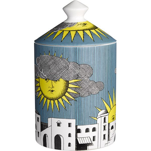 Fornasetti Scented Candle - Sole di Capri ($180) ❤ liked on Polyvore featuring home, home decor, candles & candleholders, candles, decor, filler, scented candles, fornasetti candles, fragrance candles and fornasetti
