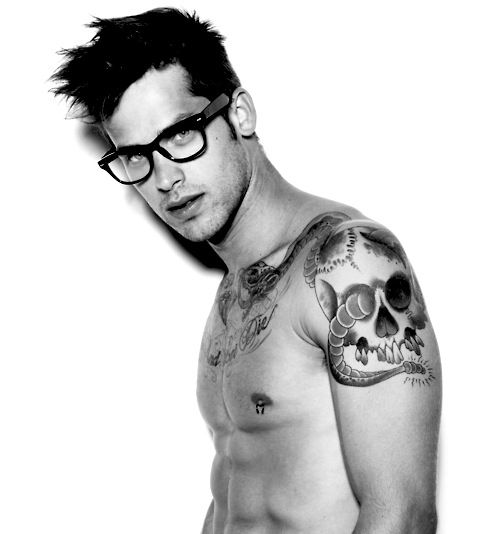 Hawt guys with tattoos are a commodity.