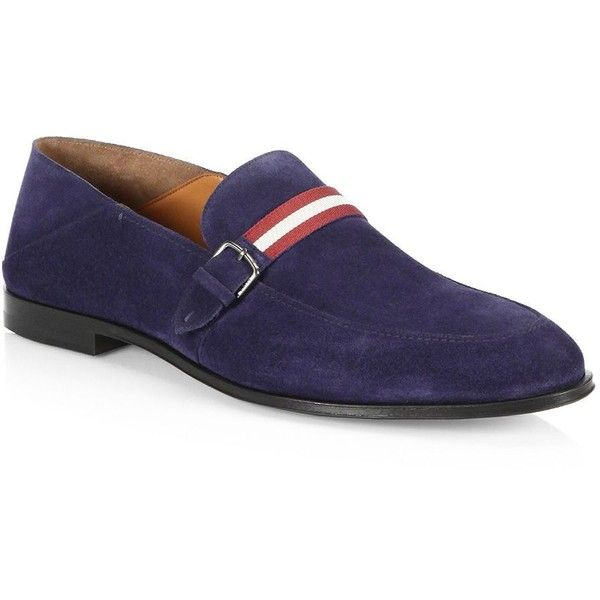 Bally Wendell Convertible Suede Loafers ($595) ❤ liked on Polyvore featuring men's fashion, men's shoes, men's loafers, bally mens shoes, mens shoes, mens loafers, suede loafers mens shoes and mens loafer shoes