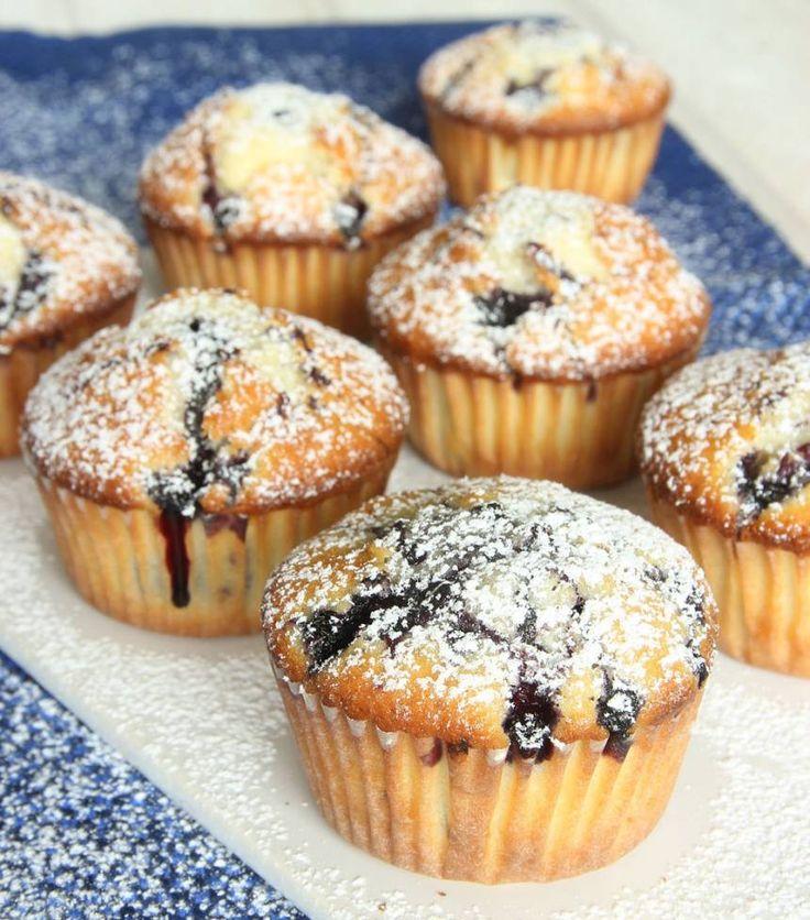 Blåbärsmuffins – Lindas Bakskola