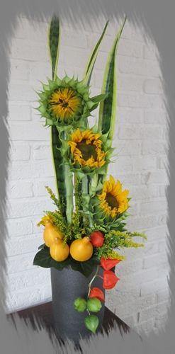 Ontluikende zonnebloemen.